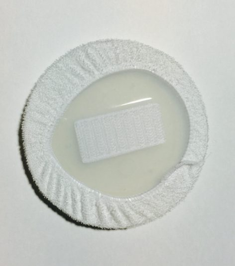 Silicone Pad with Cotton Cover, included- Back