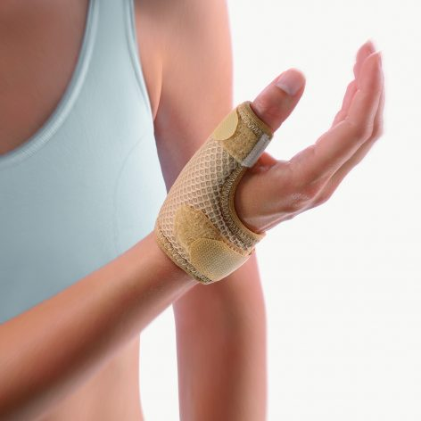 BORT SOFT Short Thumb Splint, For Thumb Arthritis, Pain, Sprain- BEIGE