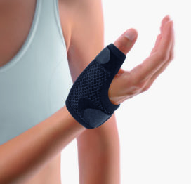 BORT SOFT Short Thumb Splint, For Thumb Arthritis, Pain, Sprain- BLACK