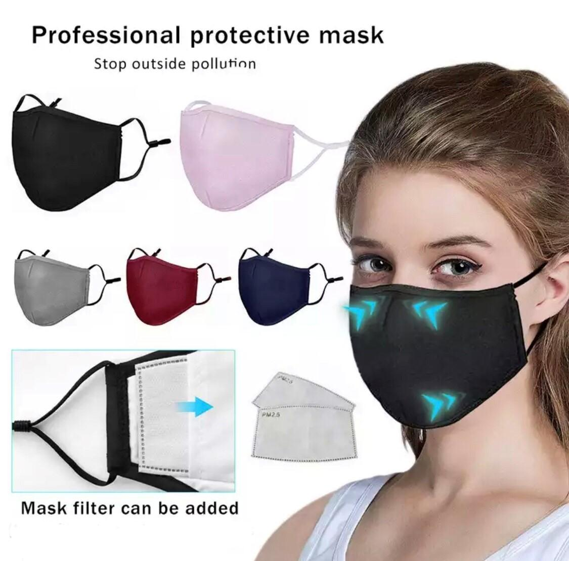 Cotton Face Mask with Nose Wire, Adjustable Ear, Pocket, Reusable,  Washable, N95, PM2.5 Filter, Essential - BSOS - Bort-Swiss Orthopedic Supply